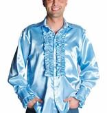 Rouches blouse luxe lichtblauw