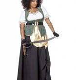 Piraten jurk lang Charlotte