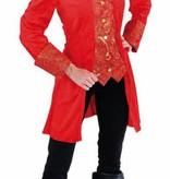 Markiezin jas rood
