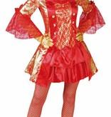 Sexy markiezin jurk rood