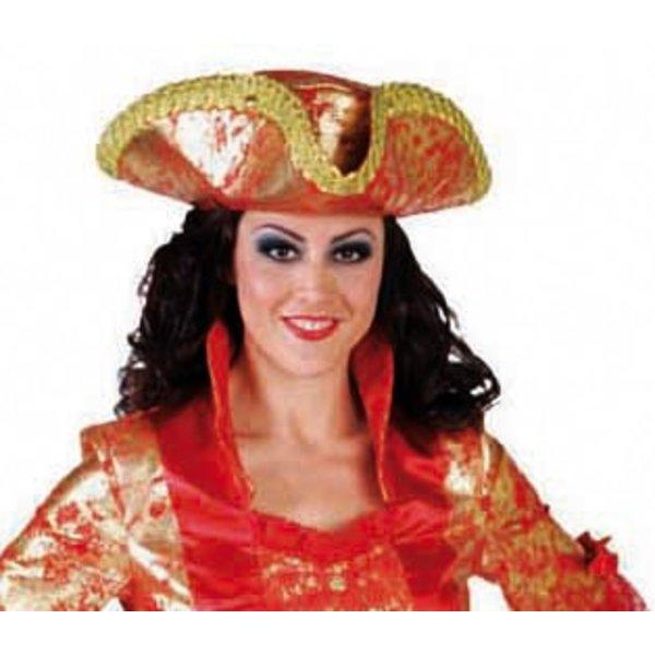 3-spits hoed markies rood