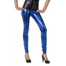 Legging folie blauw
