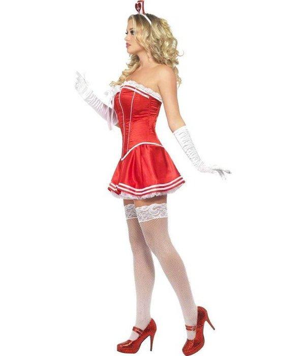 Sexy verpleegster kostuum rood