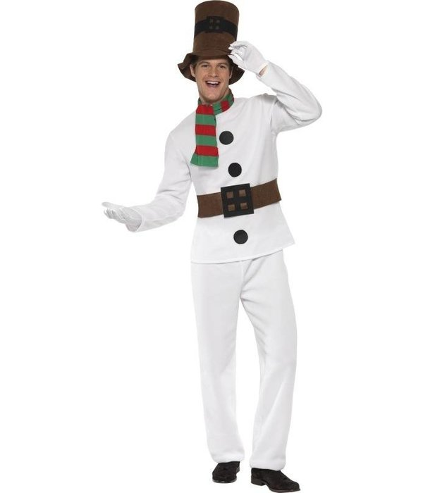 Sneeuwman kerst verkleedkleren man