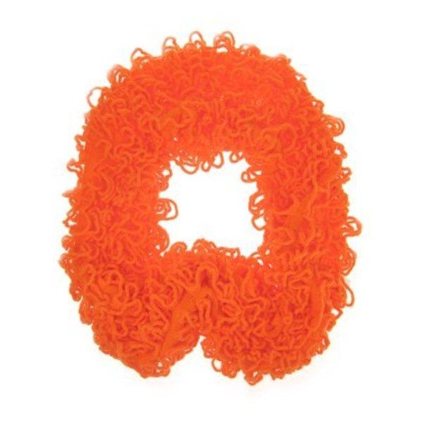 Sjawl met franjes fluor oranje