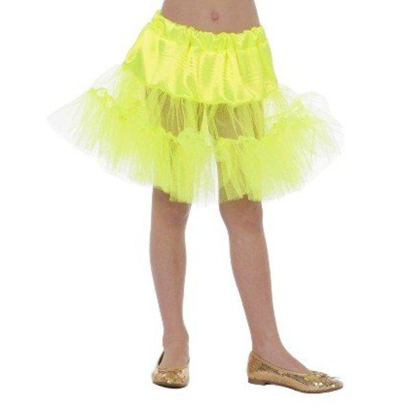 Petticoat lang neon geel kind