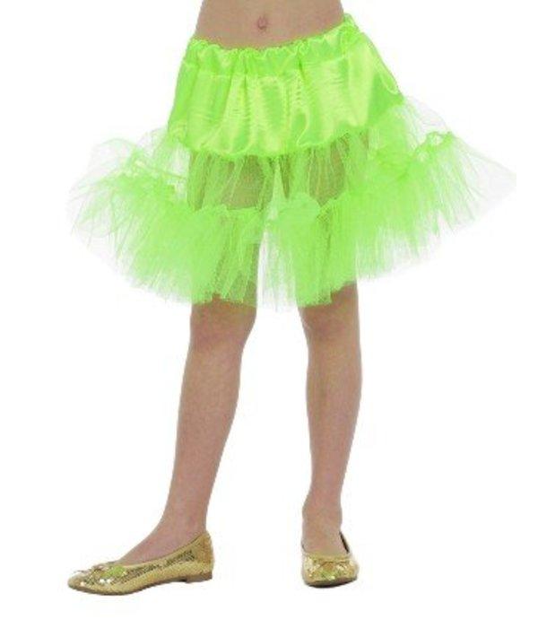 Petticoat lang neon groen kind
