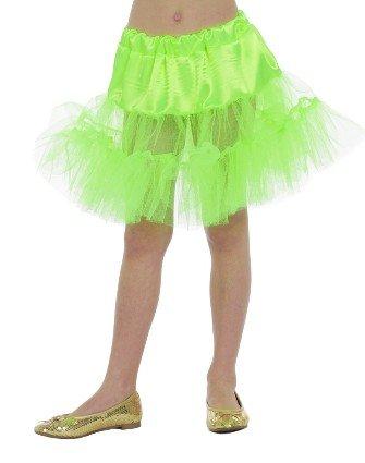 Petticoat lang neon groen kind - Feestbazaar.nl