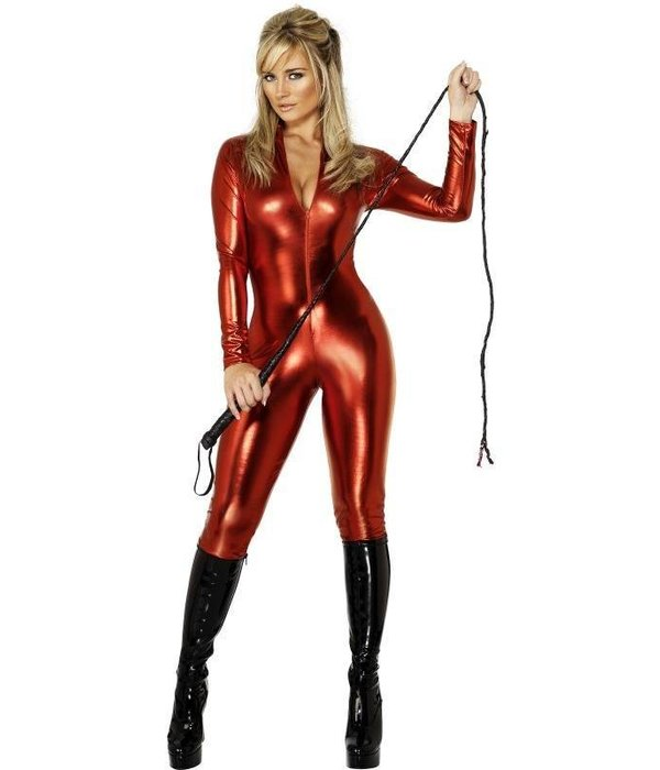 Misstress glimmende catsuit