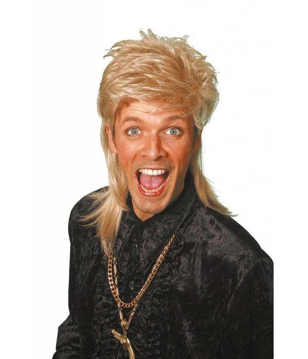 Johnny Tokkie pruik deluxe blond