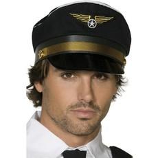 Pilotencap zwart