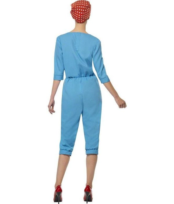 Jaren 40 fabrieksmeisje kostuum