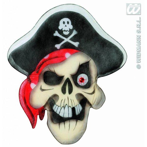 Stoffen wanddecoratie piratenschedel