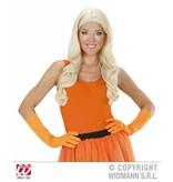 Handschoenen lang neon oranje