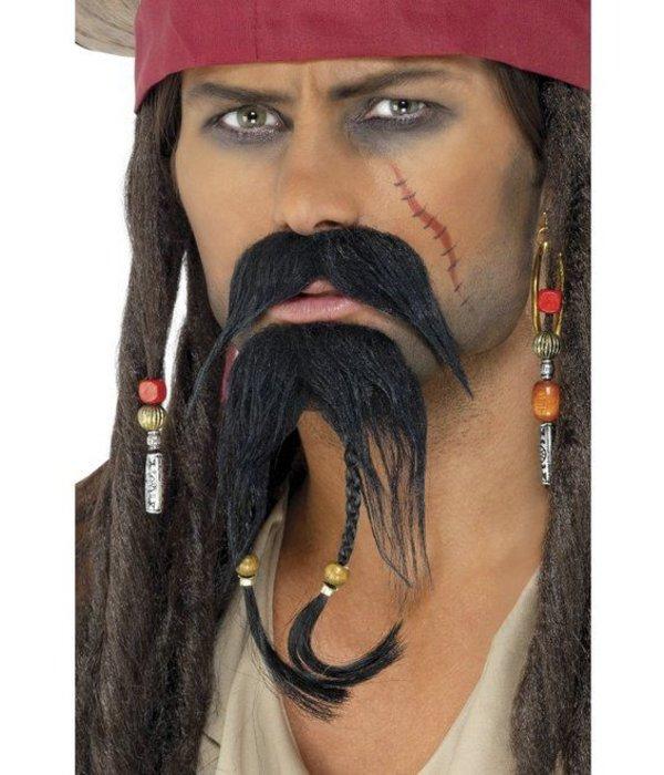 Piratenbaard + snor