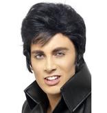 King of Rock pruik zwart