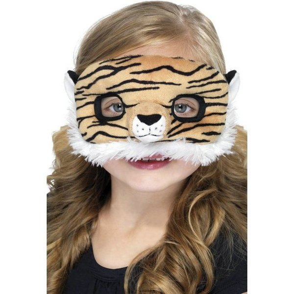 Oogmasker kind tijger pluche
