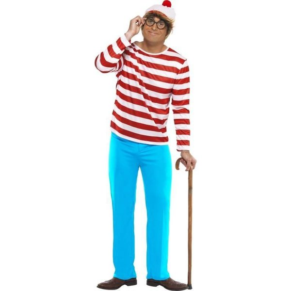 Waar is Wally kostuum man