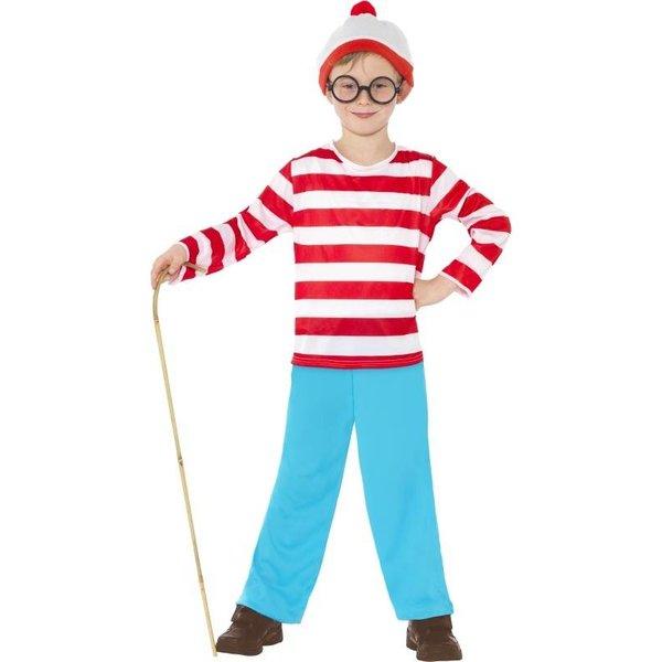 Waar is Wally kostuum jongen