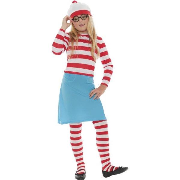 Waar is Wally meisjes kostuum
