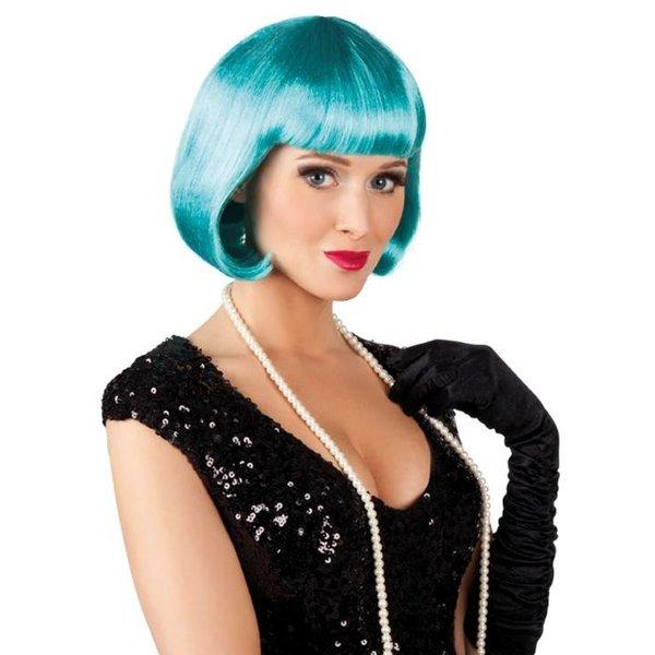 Pruik bobline new look turquoise