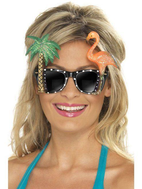 Bril met Flamingo en Palmboom
