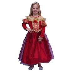 Prinsessen verkleedkleren rood/goud