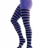 Panty gestreept zwart/paars