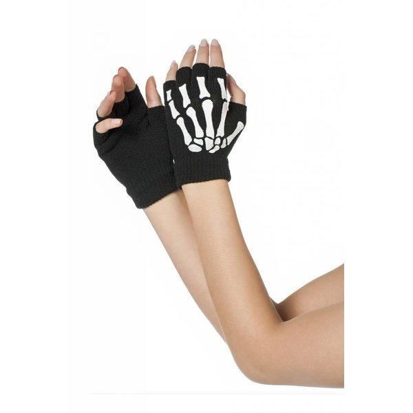 Vingerloze handschoenen Skelet