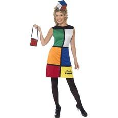Rubiks Kubus kostuum vrouw