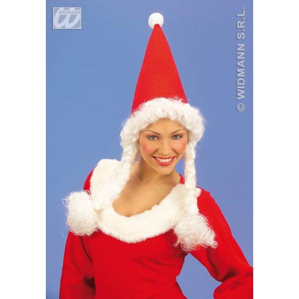 Muts Kerstvrouw met staartjes
