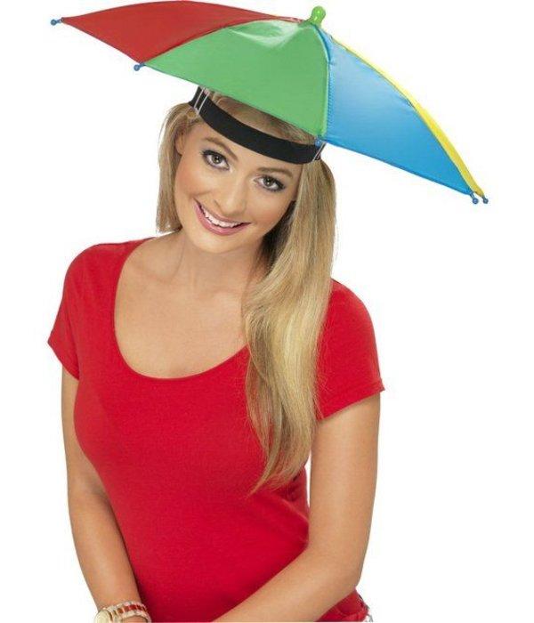 Hoofd parapluutje multikleur