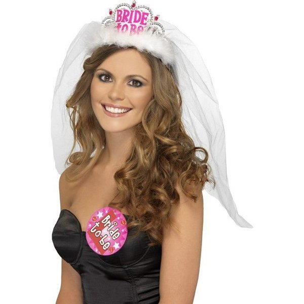 Gesluierde Bride to Be tiara