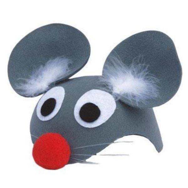 hoofdkap muis + neus vilt
