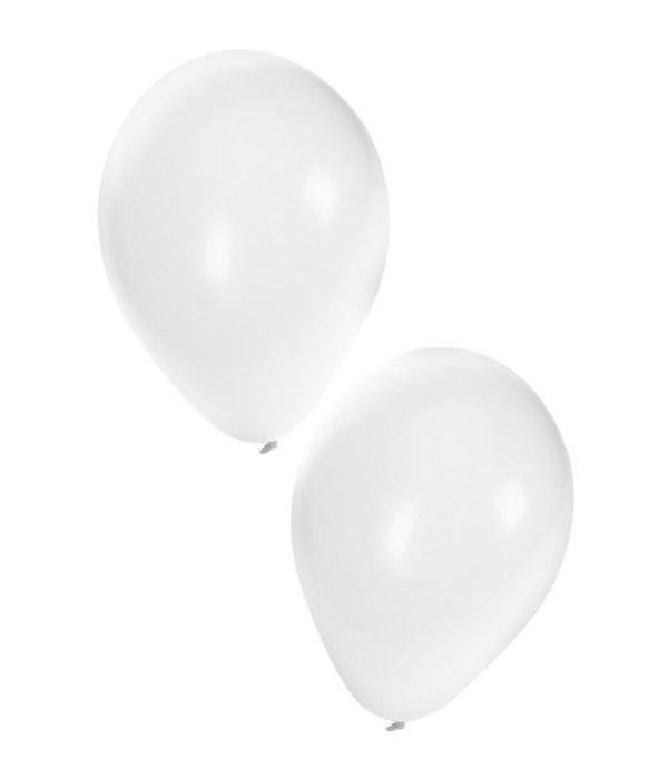 Ballonnen 50x wit