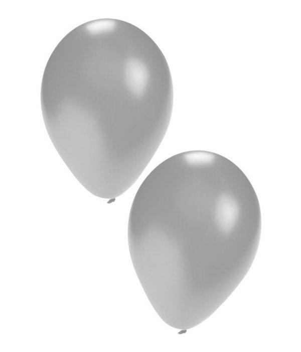 Ballonnen 50x zilver