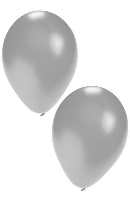Ballonnen helium 50x zilver
