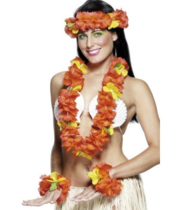 Hawaii verkleedset rood