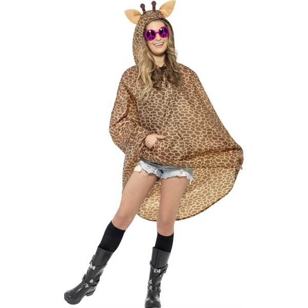 Party Poncho festival Giraffe