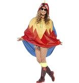 Party Poncho festival papegaai