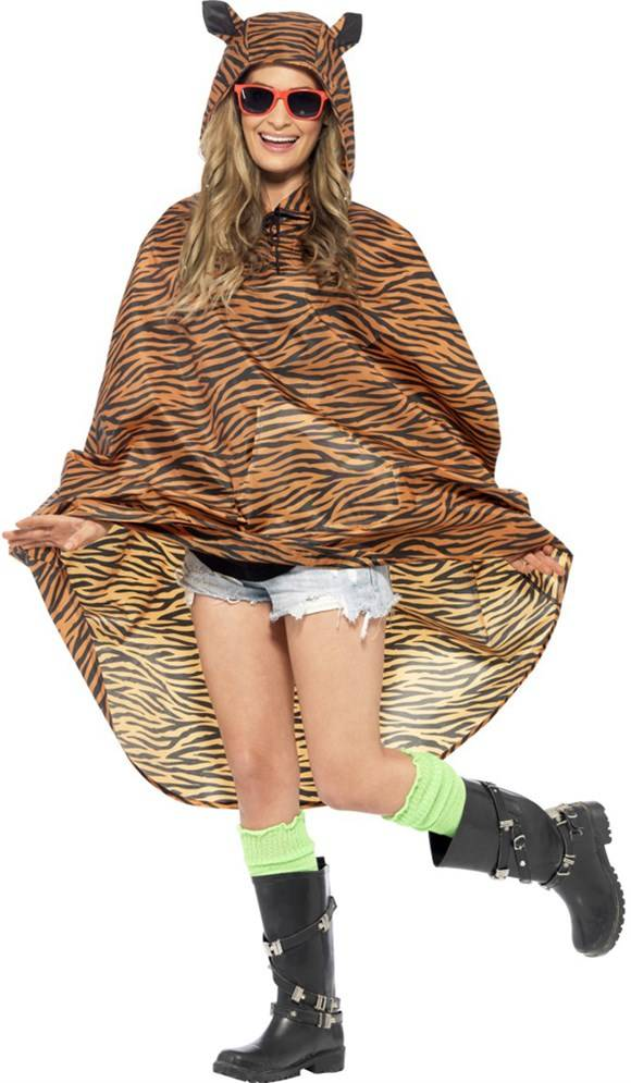 Party poncho festival tijger