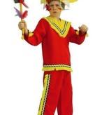 Kostuum Indian boy rood