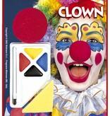 Make-up set Clown met neus