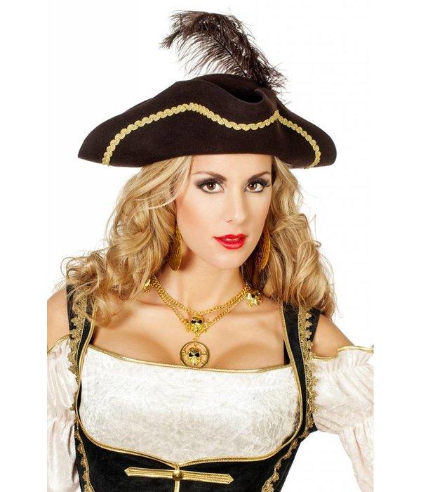 Wolvilt Piratendriesteek bruin