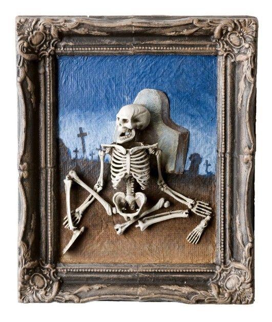 Schilderij skelet - Decoratie schilderij gang ...