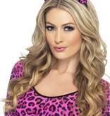 Luipaard strik roze op hoofdband