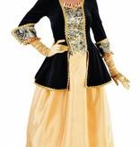 Markiezin verkleedkleren zwart/geel