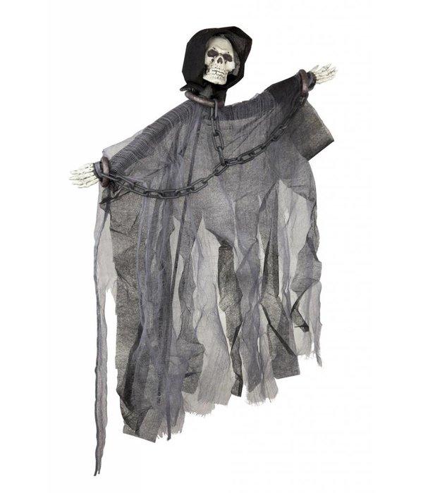 Skelet rechtstaand met ketting