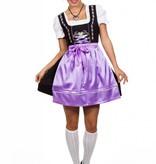 Dirndl zwart met paarse schort