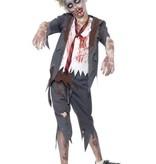 Zombie Schooljongen kostuum kind